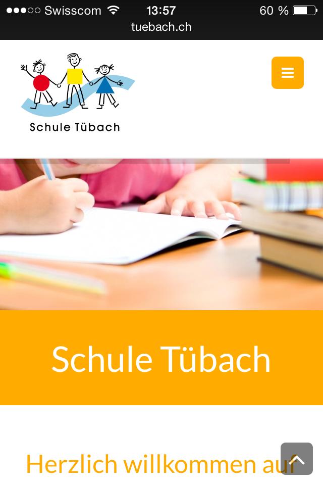 Homesite mobile schule-tuebach.ch