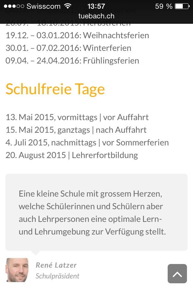 Footer Home mobile schule-tuebach.ch