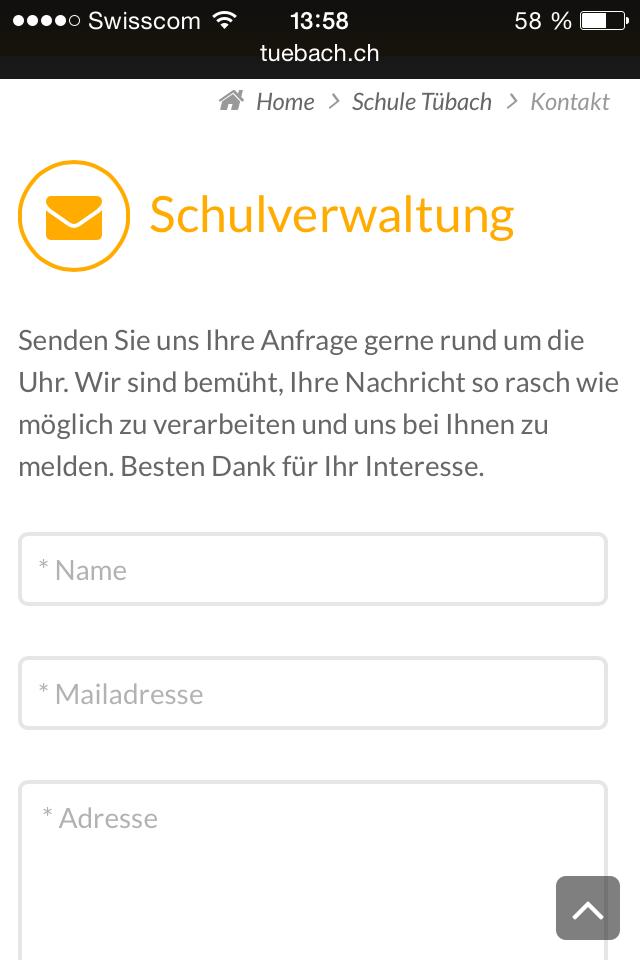 Formular mobile schule-tuebach.ch