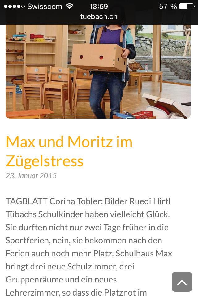 News mobile schule-tuebach.ch