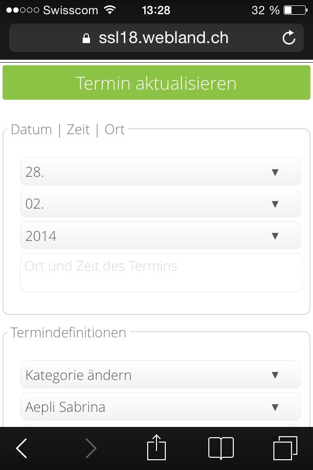 Terminplanung Mobile 5