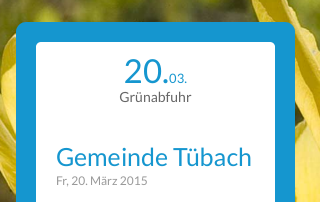 Agenda Home mobile tuebach.ch