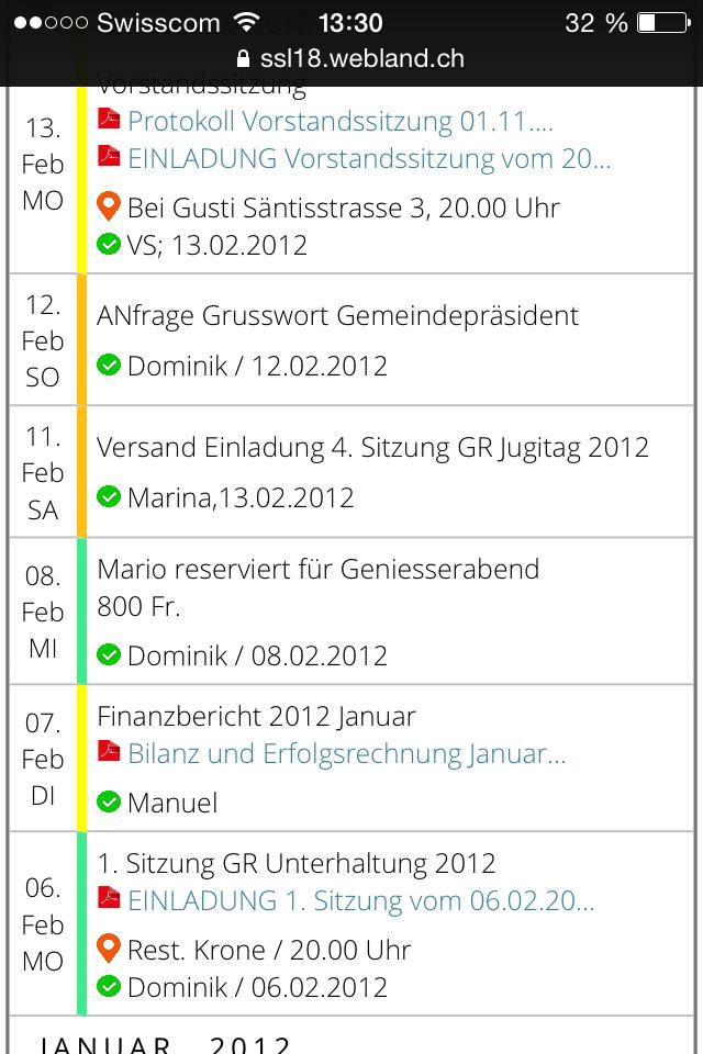 Terminplanung Mobile 8