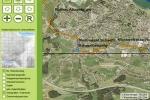 Georeferenzierte Kartengrundlage mit Weglayer in der Ansicht auf dem Webframework