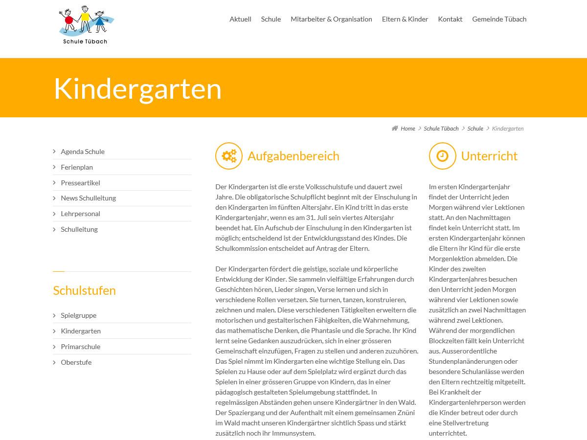 Inhaltsseite schule-tuebach.ch