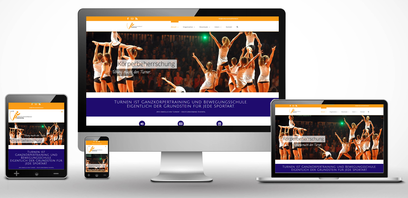 Die neue Homepage des Kreisturnverbands Rheintal